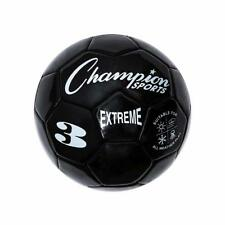 Champion Sports Extreme Soft Touch Butyl Bladder Soccer Game Ball, Size 3, Black