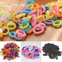 100x Mini Bobbles Hairband Elastic Hair Bands Kids Baby Ponytail Holder Stretchy