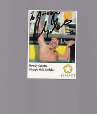 Rowdy Gaines, 1984 Gold Medalist, Swimming, 100m & 200m Free style, SIGNED card