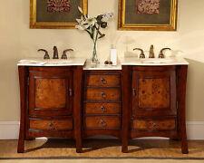 "67"" Dual Bath Vanity Lavatory Double Sink Bowl Cabinet Bathroom Furniture 727CM"