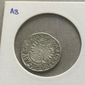 3 Kreuzer Austria 1630 Ferdinand II HRR Heilige Römisches Reich Silver A8/10