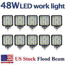 10X 48W LED Work Light Flood Driving Lamp 12V 24V Offroad car boat Truck US Ship