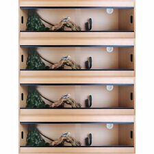 "Terapod Stack of 4 - 48"" 4ft Slim Beech Pro Reptile Vivarium Housing  4 Foot"