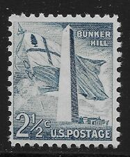US Scott #1034, Single 1959 Bunker Hill 2.5c FVF MNH