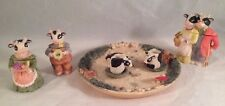 Cow Miniature Teaset, Rasin, 11 pcs
