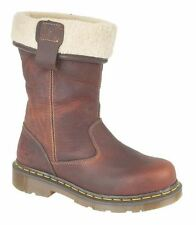 Fur 100% Leather Pull On Boots for Women