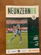 Programm FC Homburg 08 vs SC Freiburg II Regionalliga Südwest 22.02.2020