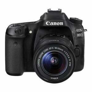 New Canon EOS 80D + 18-55mm IS STM Kit (Canon Repack Stock)