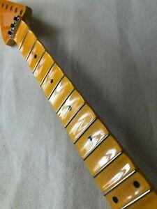 Reverse head Full scalloped Electric Guitar Neck part 24Fret Maple Locking nut