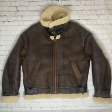 Avirex Type B-3 Leather Bomber Made In The USA Flight Jacket