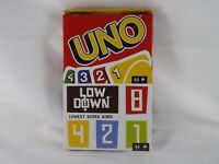 Mattel Games UNO Card Game & Low Down Card Game - New