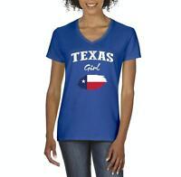Texas Girl  Women V-Neck T-Shirt