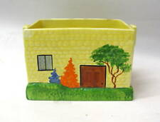 Art Deco Carlton Ware Biscuit Jar Hand Painted Cottage. No. 778973. BODY ONLY.