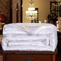100% Silk Filled Comforter Quilt Duvet Blanket Coverlet Twin Full Queen King G46