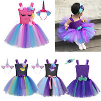 Toddler Kids Girls Birthday Party Dress Fairytale Book Week Fancy Costume Outfit