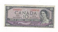 **1954 Devil's Face**Canada $10 Note, Beattie/Coyne BC-32b, Ser# ID 5054732