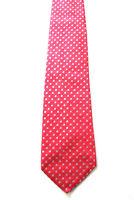 ATWARDSON Krawatte Slips Tie rot kariert 100% Seide (D2/69)