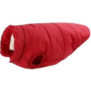 Winter Waterproof Padded Pet Dog Clothes Warm Fleece Lined Jacket Vest Coat