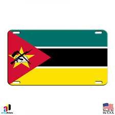 Mozambique Country Flag Aluminum Metal Novelty License Plate Tag
