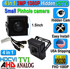 1080P HD Hidden SPY Camera 2MP CCTV HD CVI AHD TVI Analog CVBS Pin Hole mini