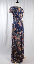 Reformation Blue Floral Maxi Dress Cap Sleeve XXS Gorgeous!!