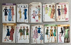 Vintage 1960s 1970s Simplicity Vogue Sewing Pattern LOT of 8 Size 16 & 18 LARGE