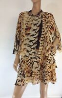 🌻CHARLIE BROWN SIZE 8 LAYERED ANIMAL PRINT DRESS LIKE NEW