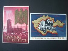 REICH / 2 POSTAL CARDS NAZI PERIOD / o/w DANZIG
