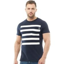 French Connection Size S Navy Tiger Stripe T-Shirt *NEW WITH TAGS* RRP £30