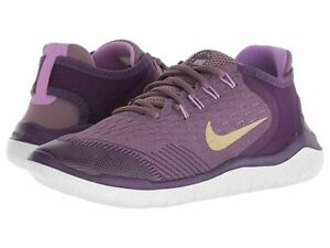 Nike Free RN 2018 (GS) AH3457-500 Purple Gold White Youth Girl's Shoes NEW!