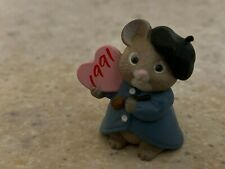 Hallmark 1991 Valentine Artist Mouse with Heart