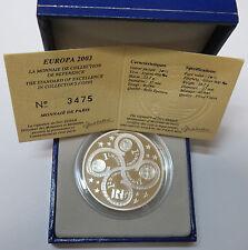 Francia france 1 1/2 1,50 euro 2003 unión monetaria Franz. monedas de plata pp Box