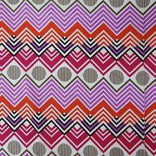 "Multicolor 40"" Wd Fabric Cotton Geometric Print Sewing Apparel Drape By 1 Metre"