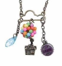 Disney Pixar Up Necklace Carl Ellie House Balloon Grape Soda Cap Award Cloud New