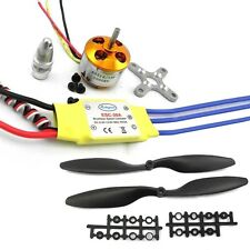 A2212 1000KV Motor w30A Brushless ESC + 1045 Propeller For DJI F450 550 FNHB  B