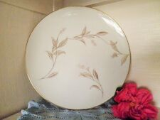 VINTAGE DINNER PLATE NORITAKE JANIA 5631 WHITE GOLD LEAVES RETRO more AVAILABLE