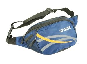 Mens Blue Canvas Waist Bag By Sport New And Sealed