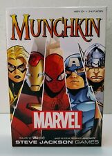 Munchkin Marvel Edition Steve Jackson Games Out Of Print Card Game 100% Complete
