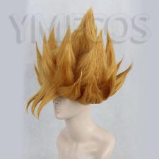 Dragon Ball Z GOKU Golden Blonde Anime Cosplay Costume Wig +Free CAP