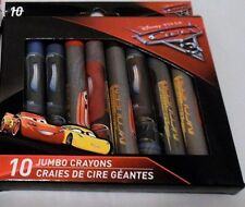 Disney Pixar Cars 10 jumbo crayons Children New
