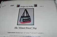 The Felted Flower Power Bag Purse Knitting Pattern Designs by Shelley  #18