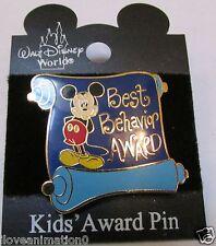Disney Best Behavior Award Mickey Mouse Pin