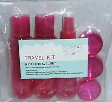 6 PIECE TRAVEL KIT  Pink