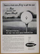 1960 Dunlop SUPER MAXFLI Golf Balls ball on tee photo vintage print Ad