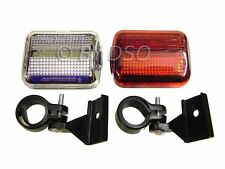 Tool-Tech Front and Rear Bicycle Bike Lamp Light Set UK STOCK FAST DISPATCH