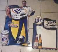 Vintage NASCAR Rusty Wallace #2 Miller Lite Cardboard Cut Out Nascar Lot 2 Items