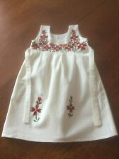 GIRLS/TODDLERS COTTON EMBROIDERED SLEEVELESS DRESS