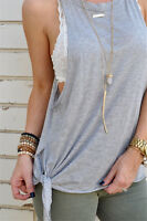 Womens Ladies Summer Vest Top Sleeveless Casual Tank Blouse Tops T-Shirt Loose