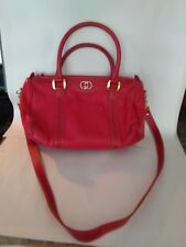 Vintage Gucci Red leather shoulder bag or tote