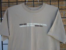 (L) MILLER LITE Beer T Shirt MAN LAW Man who controls the beer world football LG
